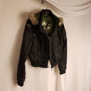 Small Billabong Poof jacket With Fur Hood